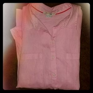100% Linen Button-Down Shirt